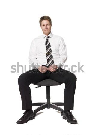 человека офисные кресла обувь белый галстук человек Сток-фото © gemenacom