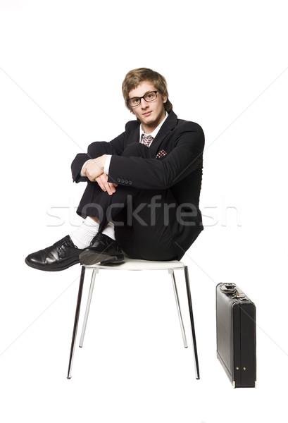 Man siting on a chair Stock photo © gemenacom