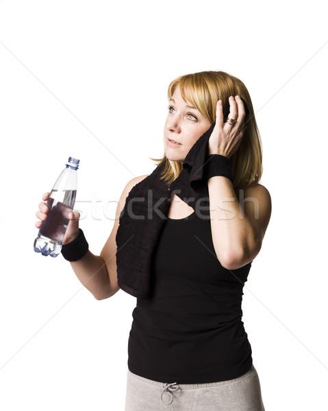 Lány elvesz törik munka ki nő Stock fotó © gemenacom