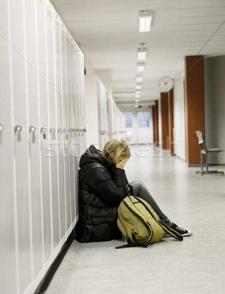 Young woman getting bullied at school Stock photo © gemenacom