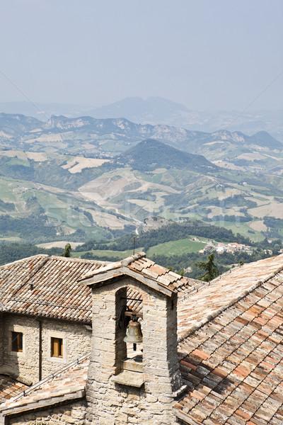 Toszkán tájkép kilátás ház mező farm Stock fotó © gemenacom
