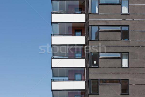 Társasház napos idő ház város terv ablak Stock fotó © gemenacom