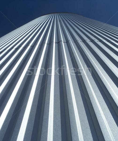 Opslag tank blauwe hemel technologie industrie fabriek Stockfoto © gemenacom