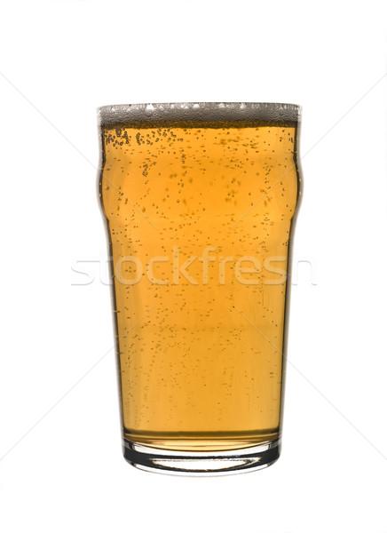 Pinte bière verre bouteille pub Photo stock © gemenacom