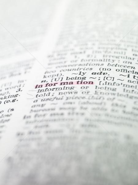 言葉 教育 辞書 紙 図書 印刷 ストックフォト © gemenacom