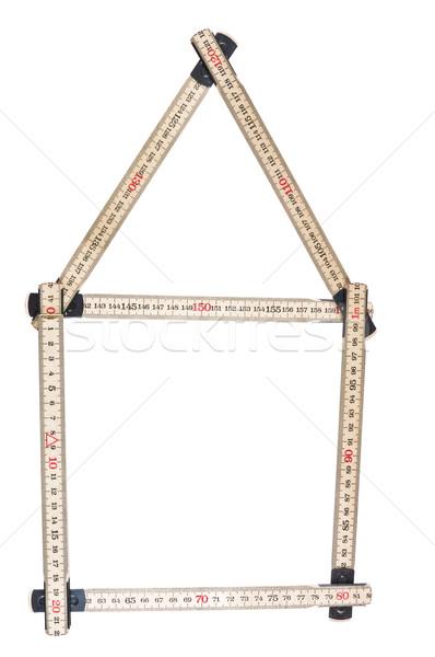 House made of a folding ruler Stock photo © gemenacom