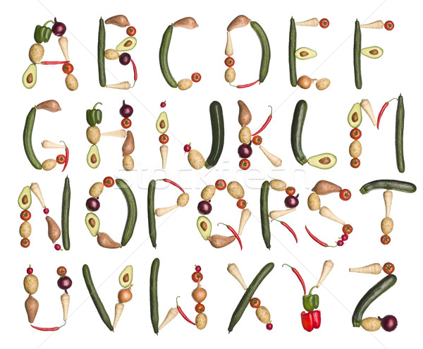 The Alphabet formed by vegetables Stock photo © gemenacom