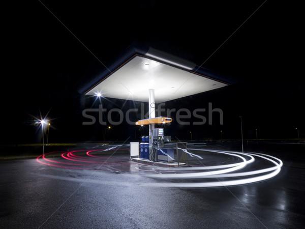 ночь движения движения лампы черный Сток-фото © gemenacom