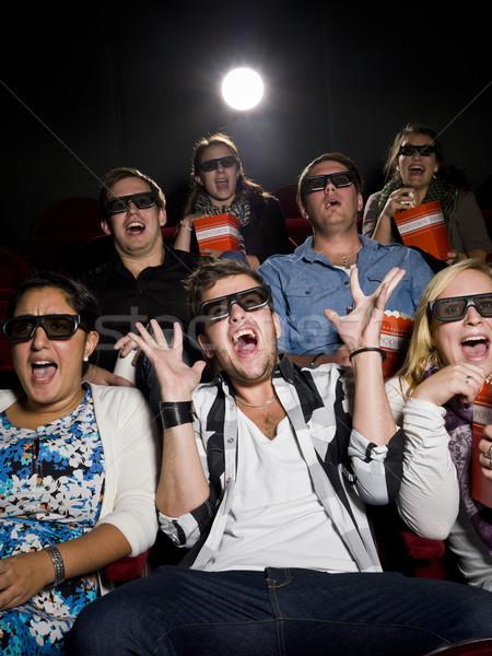 Scared movie spectators Stock photo © gemenacom