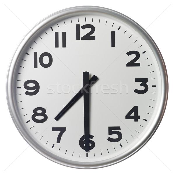 Fél múlt hét óra fekete fehér Stock fotó © gemenacom