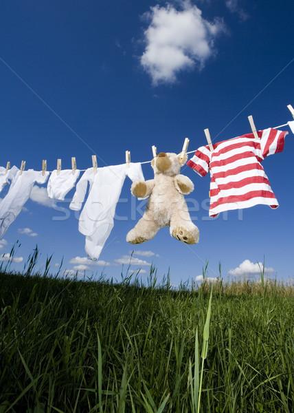 Baby clothing on a clothesline Stock photo © gemenacom