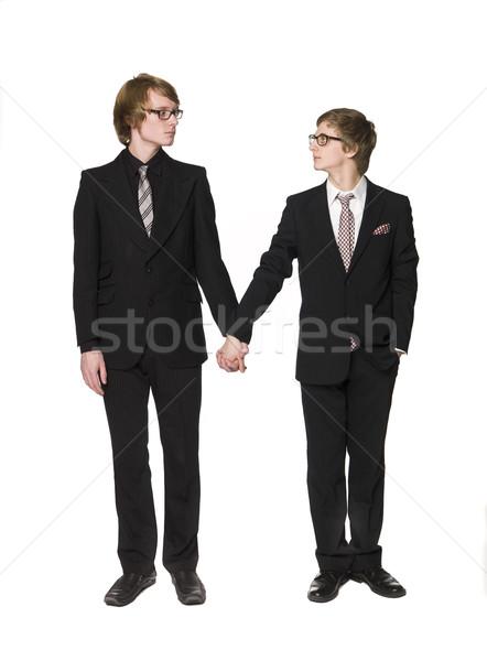 Two men holding hands Stock photo © gemenacom