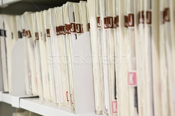 Arquivos organizado prateleira escritório médico carta Foto stock © gemenacom