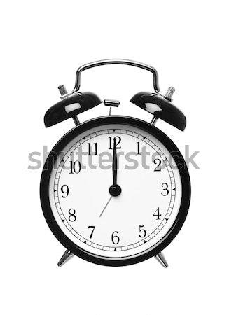 Alarm clock shows Twelwe o`clock Stock photo © gemenacom