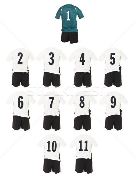 White Football team shirts Stock photo © gemenacom