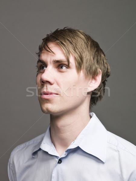 Portré férfi profil néz divat férfiak Stock fotó © gemenacom