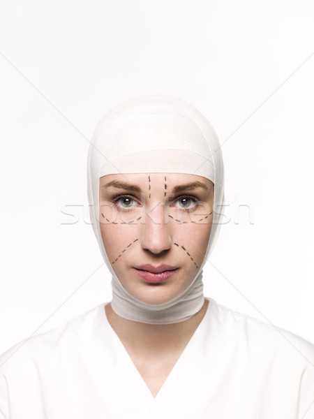 Woman prepared for a Plastic Surgery Stock photo © gemenacom
