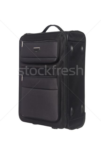 Bőrönd izolált fehér utazás táska stúdió Stock fotó © gemenacom