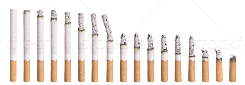 Time lapse - Burning cigarette Stock photo © gemenacom