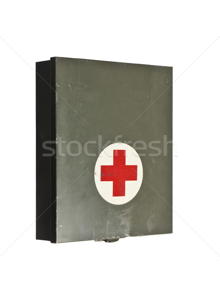 Vieux premiers soins isolé blanche guerre Photo stock © gemenacom