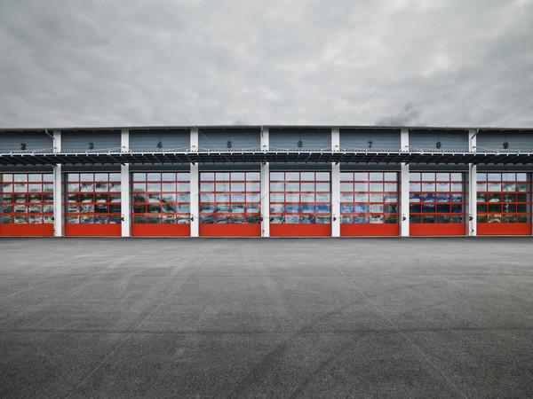 Сток-фото: гаража · дверей · стены · грузовика · промышленности
