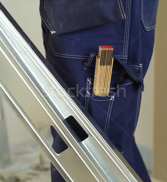 Souverain poche construction bleu écrit Photo stock © gemenacom