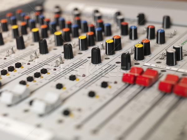 Ses ekipmanları seçici odak teknoloji kablo siyah ses Stok fotoğraf © gemenacom