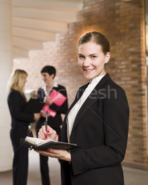 Woman with a calendar Stock photo © gemenacom