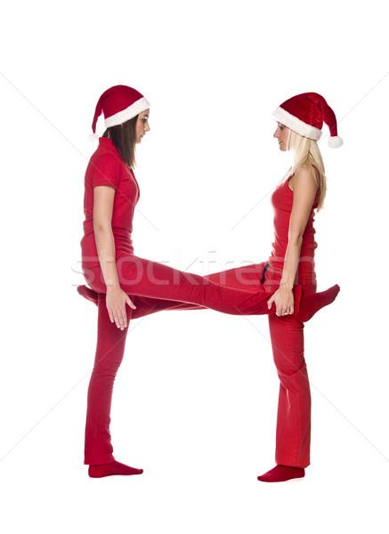Elfs forming the letter 'H' Stock photo © gemenacom