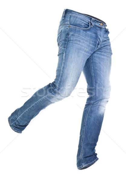 Worn blue jeans isolated Stock photo © gemenacom