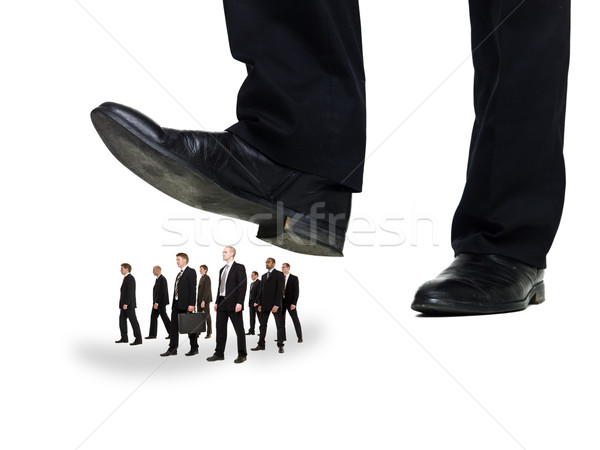 Stock photo: Group of Businessmen under a sole
