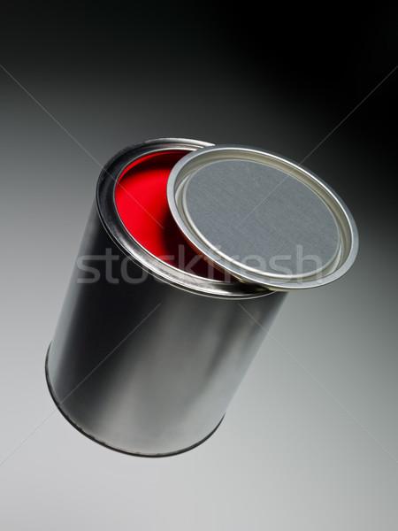 Piros festékes flakon festmény fehér folyadék makró Stock fotó © gemenacom