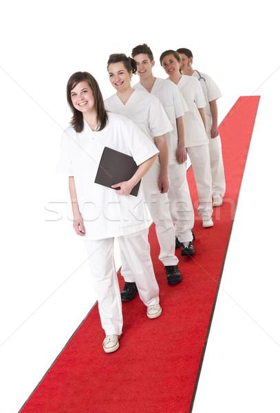 Medical Team on a red Carpet Stock photo © gemenacom