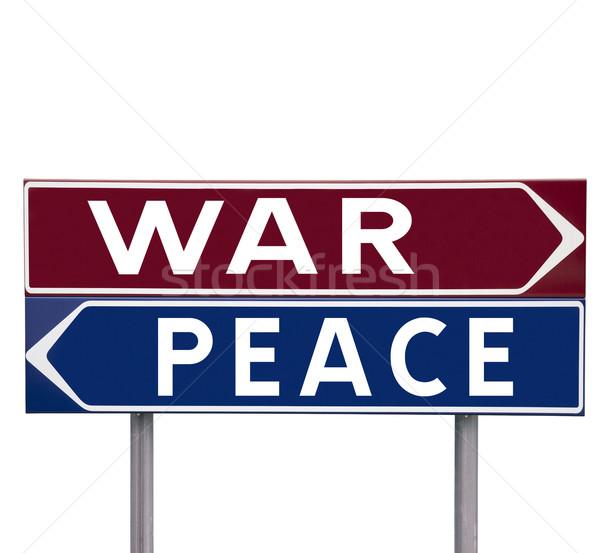 Pace guerra direzione segni scelta isolato Foto d'archivio © gemenacom