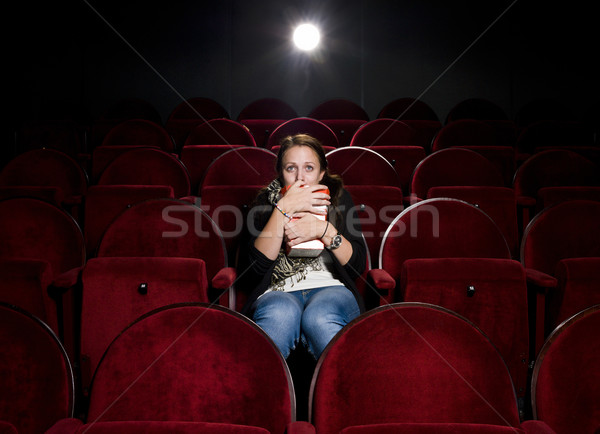 Afraid young woman Stock photo © gemenacom