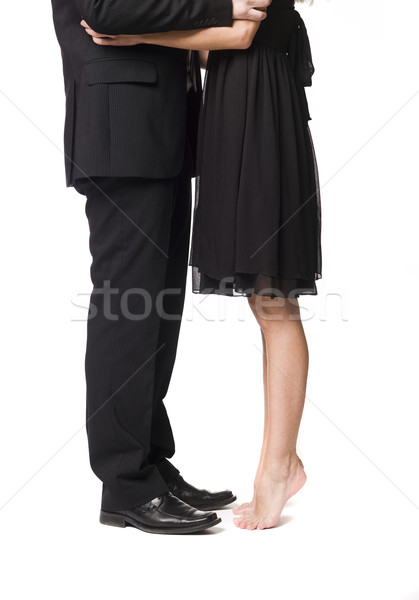 Woman standing on her toes to reach  Stock photo © gemenacom