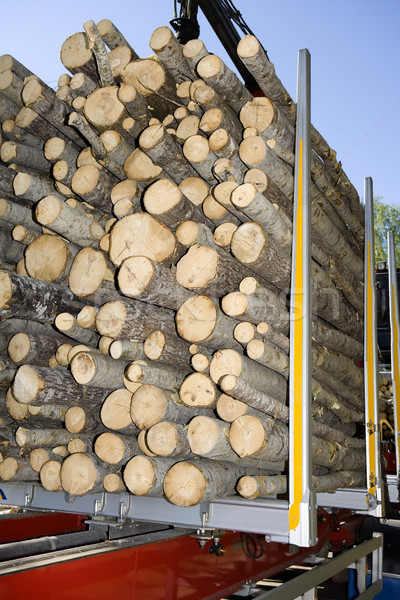 Kereste ağaç yol ahşap doğa Stok fotoğraf © gemenacom
