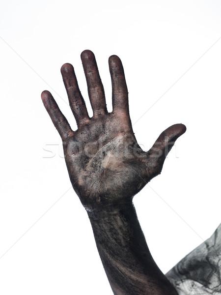Dirty palm of the hand Stock photo © gemenacom