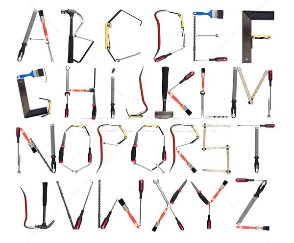 Alphabet outils isolé blanche bureau hommes Photo stock © gemenacom