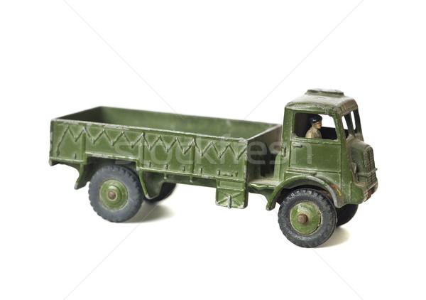 Giocattolo esercito camion isolato bianco auto Foto d'archivio © gemenacom