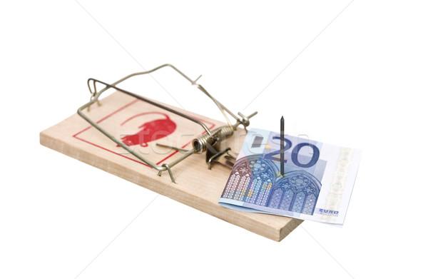 Euro bank jegyzet izolált fehér üzlet Stock fotó © gemenacom