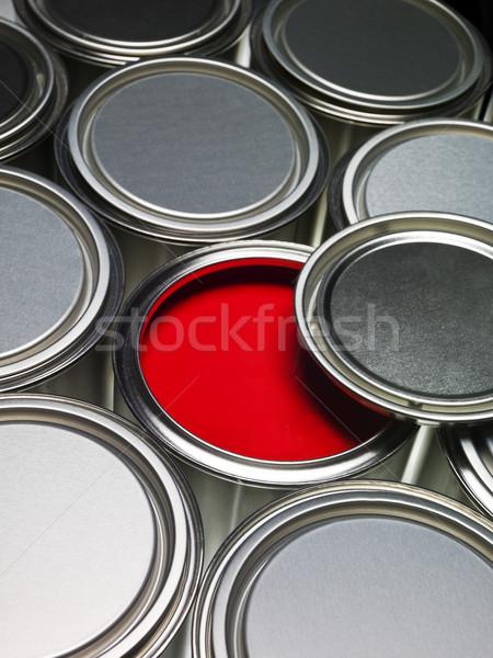 Vernice full frame rosso può metal Foto d'archivio © gemenacom