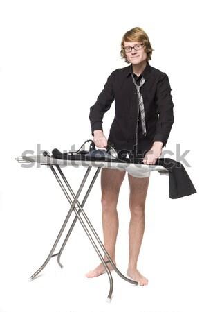 Man ironing his pants Stock photo © gemenacom