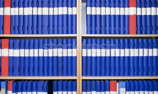 Several binders in a bookcase Stock photo © gemenacom