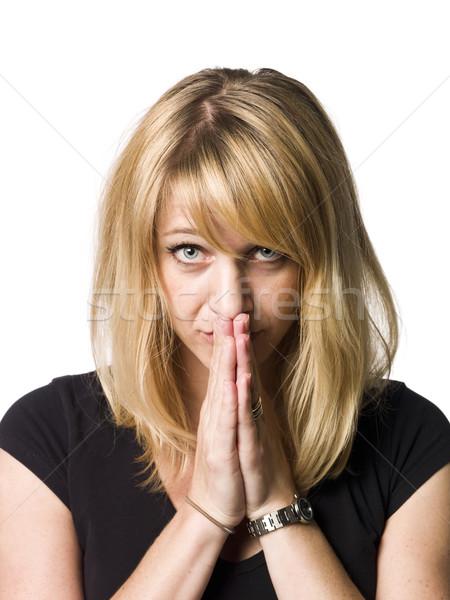 портрет испуганный женщину женщины рабочих Сток-фото © gemenacom
