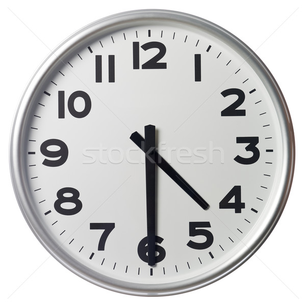 Mitad pasado cuatro reloj negro blanco Foto stock © gemenacom