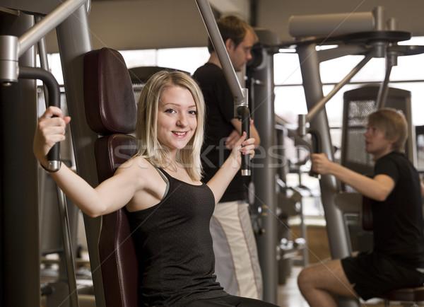 Girl exercising Stock photo © gemenacom