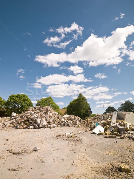 Környék napos idő ház város fal utca Stock fotó © gemenacom
