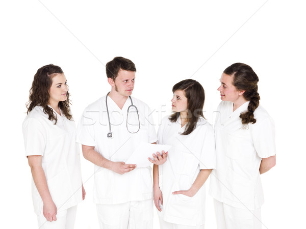Médico aislado blanco hombres equipo Foto stock © gemenacom
