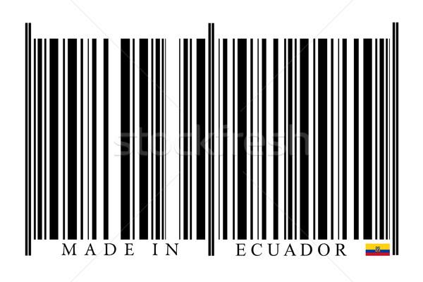 Эквадор штрих белый технологий черный рынке Сток-фото © gemenacom